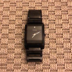 Fossil Black Diamond Analog Watch
